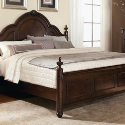 "Coaster - Luciana Queen Bed - Outfit your master suite with opulence by welcoming the Luciana collection into your home. This collection features intricate carving details, V-pattern drawer fronts and an abundance of storage space to complement any classically-styled home. Collection: Luciana; Style: Traditional; Finish/Color: Cherry Finish; Box Spring Foundation required; Dimensions: 85.25""L x 65.75""W x 60.00""H"