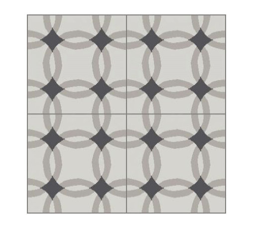 Granada Tile - Tile Sample Athens 875 A - This cement tile brings to mind the beauty and symmetry of ancient Greece.
