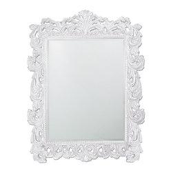 Howard Elliott - Howard Elliott Napoleon Glossy White Mirror - Napoleon glossy white mirror