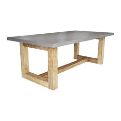 Zen Wood Dining Table by Trueform Concrete - Zen Wood Dining Table
