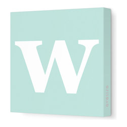 "Avalisa - Letter - Lower Case 'w' Stretched Wall Art, 12"" x 12"", Sea Green - Spell it out loud. These lowercase letters on stretched canvas would look wonderful in a nursery touting your little one's name, but don't stop there; they could work most anywhere in the home you'd like to add some playful text to the walls. Mix and match colors for a truly fun feel or stick to one color for a more uniform look."