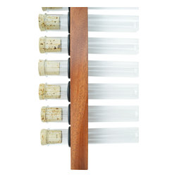 Adams Elemental Design - Exotic Wood Test Tube Spice Rack, Mahogany, 25 X 150mm Test Tubes - These test tube spice racks are a perfect way to showcase the wonderful colors of spices as well as the unique grain and color variations of natural wood. The price is for an individual rack and test tubes without spices. Racks are flush mounted to the wall without any visible hardware or plugs.