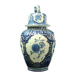 EuroLux Home - 1900 Delft Vase Ginger Jar Blue - Product Details