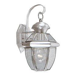 Livex Lighting - Livex Lighting 2051-91 Outdoor Wall Lantern - Glass Type/Shade Type: Clear Flat Glass