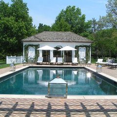 traditional pool by R. Roman Hudson Residential Design