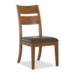 Klaussner - Casual Dining Side Chair in Shaker Style with Golden Stain Wood Frame - Crafted with a rich golden stain and Shaker inspired design. Panel doors and rubbed Bronze hardware. Offers a timeless look. 20 in. L x 26 in. D x 40 in. H