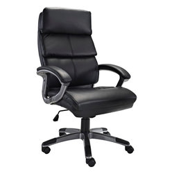 Modway - Stellar Office Chair, Black - Mobilize your own constellation of influence with the Stellar High Back Office Chair. Plush padded cushions and sleek dual toned curved arms accentuate this chair modeled for leaders imbibed with an entrepreneurial spirit. Stellar also comes with lumbar support, pneumatic height adjustment, a black nylon base, Dual wheel carpet casters and a full 360 degree swivel.