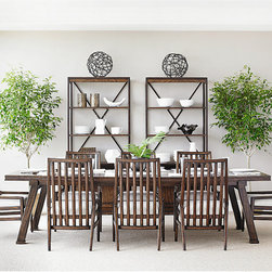 Dining Rooms | Smart Furniture - The Newel Collection from Stanley is full of pieces to bring craftsman quality modernism to your home.