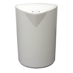 Nine Stars - Nine Stars 2.1-gallon White Plastic Motion Sensor Trash Can - This Nine Stars 2.1-gallon motion sensor trash can will keep your hands clean and sanitary. This automatic garbage can is ideal for kitchens and bathrooms.