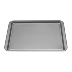 """Kaiser Bakeware - Kaiser Noblesse Jelly Roll Pan, Black, 15""""x10"""" - This Kaiser Bakeware Noblesse 15"""" x 10""""non-stick jelly roll pan is great for baking a jellyroll, but also works nicely for cookies. This pan features a heavy gauge steel for even and gentle heat distribution, and consistent browning. The double layer non-stick coating eliminates the need for flouring the pan, and allows for quick release and easy cleanup."""