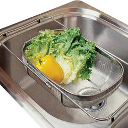Amco Houseworks - Amco Houseworks Over-the-Sink Colander with Legs - This is the gift that keeps on giving. If your kitchen space isn't exactly big in size, this stainless steel, over-the-sink colander will delight up to 21-inch kitchen sinks. Enjoy the countertop space you'll gain once you position this into place. Great for rinsing vegetables and fruit, draining pasta and maybe even your seashell finds at the beach.
