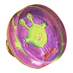 Paper Scissors Rock - Monster Knob - Our decorative knobs are exclusively available on Houzz.com. They will brighten up any cabinet, drawer or piece of furniture. Each one starts with an original watercolor by artist Pamela Corwin, which is reproduced and encased in a durable and easy to clean acrylic. Standard 8-32 screw included.