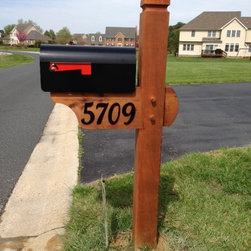 Triton Timberworks - Western Red Cedar mailbox - mortise and tenon, pegged construction, traditional wood joinery