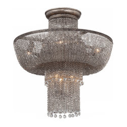 North Iron Chain and Crystal 22 Lights Chandelier 11564 -