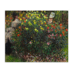 "Art and Sculpture Design - Claude Monet ""Ladies in Flowers 1875"" Canvas Print, 30x34 - Canvas: Giclee Print on Canvas. Epson Premium Glossy Canvas."