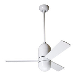 "Modern Fan - 36"" Modern Fan Cirrus Gloss White Ceiling Fan - Give your home a fresh style and a cooling breeze with this eye-catching 36"" Cirrus ceiling fan from the Modern Fan Company. It features a gloss white finish motor with three matching blades for a sleek modern look. Plus this design includes a hand-held remote and a lifetime motor warranty for convenience. Gloss white motor finish. Three white finish blades. 36"" blade span. 14 degree blade pitch. 144x28mm motor size. Hand-held remote control operation included. Includes one 6"" and one 13"" downrod. Fan is 17"" high from ceiling to switch housing. Canopy is 5 1/4"" wide.  Gloss white motor finish.  Three white finish blades.  36"" blade span.  14 degree blade pitch.  144x28mm motor size.  Hand-held remote control operation included.  Includes one 6"" and one 13"" downrod.  Fan is 17"" high from ceiling to switch housing.  Canopy is 5 1/4"" wide."