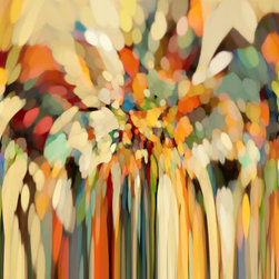 """Mark Lawrence Art - Genesis 19:15. Angels Guiding Lot. 81""""x54""""Giant Ultra Hand Embellished Canvas - Mark Lawrence Gallery offers an exciting selection of large inspired giclee fine art that is displayed in upscale homes, hotels and commercial buildings throughout the world."""