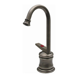 Whitehaus - Forever Hot 2.75 in. Instant Water Dispenser - Color: Antique BrassIncludes gooseneck spout. Self closing handle. Fits counter tops up to 2.25 in.. Can be used with wh-tank only. 2.75 in. W x 5.25 in. H (3 lbs.). Warranty