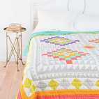 Kaleidoscope Patchwork Quilt - This quilt would be a great way to work awesome colors into a room.