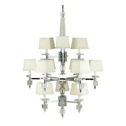 Candice Olson by AF Lighting - Candice Olson 7174-12H Cluny Chrome 12 Light Chandelier - Candice Olson 7174-12H Cluny Chrome 12 Light Chandelier