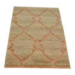 Area Rug, High and Low Hand Knotted 2'x3' Ivory Moroccan Berber Rug SH13802 - Our Modern & Contemporary Rug Collections are directly imported out of India & China.  The designs range from, solid, striped, geometric, modern, and abstract.  The color schemes range from very soft to very vibrant.