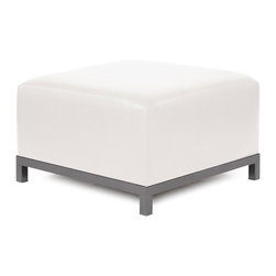 Howard Elliott - Howard Elliott Avanti White Axis Ottoman Slipcover - Axis ottoman Avanti white slipcover
