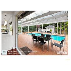Modern Pool by BG Property Styling