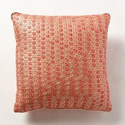 Anthropologie - Silk Pachi Pillow - *Hand-embroidered