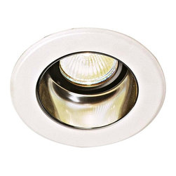 """Lightolier - Lightolier 4"""" Low Voltage Clear Alzak Recessed Light Trim - This small recessed light can and trim  fixture from Lightolier conceals the light source and provides the smallest available aperture with an inner matte black shield that absorbs stray light. To be used with Lightolier IC New Construction Non-IC New Construction and Non-IC Remodeling recessed light housing. Takes one 50 watt MR16 bulb (not included). 3 3/4"""" aperture.  White finish.   Clear Alzak.  Low Voltage.  Rated for use with one 50 watt MR16 bulb (not included).   3 3/4"""" aperture.   Fixture comes with can and trim .  Recessed housing (Can) included.  Housing sold separately."""