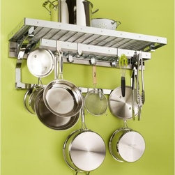 Orginnovations PegRail Gourmet Pot Rack - All you need for cooking will be right in front of you with the Orginnovations PegRail Gourmet Pot Rack. A lot of space for pots, pans, sieves, and more. Constructed of commercial grade extruded aluminum and available in a variety of finishes, this rack fits in every kitchen. Have everything in one place with this practical rack.About Orginnovations Inc.With a vast selection of storage solutions for your closets, kitchen, office, utility room, and even your wine collection, Orginnovations Inc. looks to provide the best in quality materials, design, and construction. Their storage solutions are easy to install, functional, stylish, flexible, and deliver heavy duty weight capacity. They have excellent customer service and over 40 authorized dealers throughout the US. They even offer custom sizing on closets.