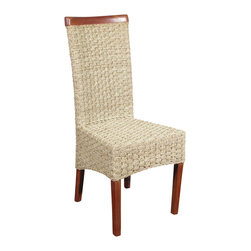 Solid Mahogany Checkerboard Woven Wicker Occasional Parson Side Chair - This product is finely constructed from top grade kiln-dried Solid Mahogany. Artisans use the old world method of tongue and groove and mortise and tenon joinery to create this beautiful and durable piece of furniture. Its superb hand-crafted quality will add a touch of elegance to your home.