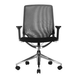Wobi Office - Wobi Marco Lowback Chair, Mesh (Adjustable Arms) - There may be days when you want to sit higher, recline back more or just spin around. The Marco chair takes care of your many moods while ensuring your back is always positioned for comfort.