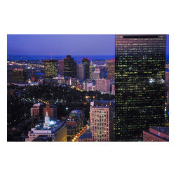 Custom Photo Factory - City Skyline Canvas Wall Art - City Skyline  Size: 20 Inches x 30 Inches . Ready to Hang on 1.5 Inch Thick Wooden Frame. 30 Day Money Back Guarantee. Made in America-Los Angeles, CA. High Quality, Archival Museum Grade Canvas. Will last 150 Plus Years Without Fading. High quality canvas art print using archival inks and museum grade canvas. Archival quality canvas print will last over 150 years without fading. Canvas reproduction comes in different sizes. Gallery-wrapped style: the entire print is wrapped around 1.5 inch thick wooden frame. We use the highest quality pine wood available. By purchasing this canvas art photo, you agree it's for personal use only and it's not for republication, re-transmission, reproduction or other use.