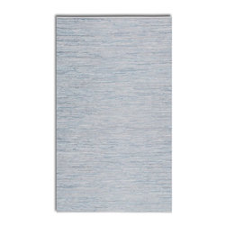 Uttermost - Uttermost Everit Silver Transitional Hand Woven Rug X-5-16017 - Hand woven rescued silver white leather and cotton. This rug is not recommended for high traffic areas.