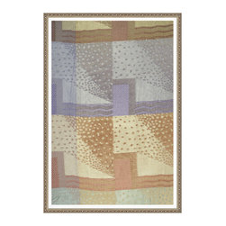 Colorway No. 2, Small, Framed - This print is of an art deco fabric design originally executed in 1925 Paris as a colorway allowing the artist to see sections of the pattern in different arrangements of color.
