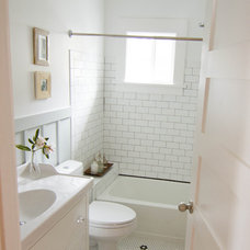 Craftsman Bathroom by Aflutter