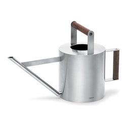 Blomus - VERDO Watering Can, Small - Your garden needs a lot of care and attention - so having gardening tools that help you keep your garden happy is essential. The VERDO Watering Can was designed by Floz for Blomus, and features a beautiful combo of stainless steel and hardwood for an unforgettably  modern, yet nostalgic piece.