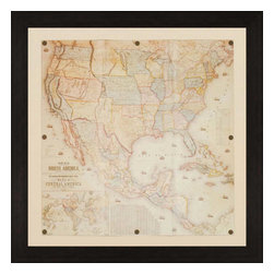 Paragon - North America, 1853 - Framed Art - Each product is custom made upon order so there might be small variations from the picture displayed. No two pieces are exactly alike.