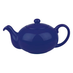 Waechtersbach - Fun Factory Tea Pot with Lid Royal Blue - Brighten up your kitchen table with this blue ceramic Fun Factory Tea Pot. With its vibrant color and contemporary shape, this tea pot will bring fun and joy into your home.