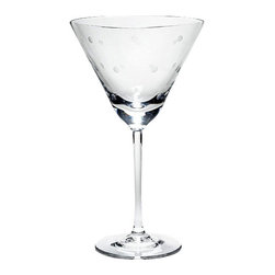 Kate Spade New York - Kate Spade Larabee Dot Martini Glasses (2 Piece Set) - This delightful larabee dot design makes a case for the polka dot as the ultimate motif, with our etched crystal martini glass as case in point.