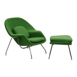 Eero Saarinen-Style Womb Chair and Ottoman Set, Green - This was on a flash sale site a while ago, and I still haven't stopped thinking about it. It's iconic, right? Which completely justifies the purchase.