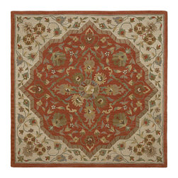 """Kaleen - Kaleen Tara Square Collection 7810-55 11'9""""X11'9"""" Sq. Cinnamon - Tara_ is the perfect shape to bring a stylist Caf_ flair to any home or office.  Awesome squares in an incredible selection of sizes. Tara_ is Hand-tufted from the finest 100% Virgin Wool Pile. Hand crafted in India."""