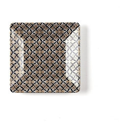 Q Squared NYC - Essex Appetizer Plate Set/6 - A testament to modern opulence, the collection was inspired by the bold geometrics of art deco and the lavish lifestyle of the roaring twenties.