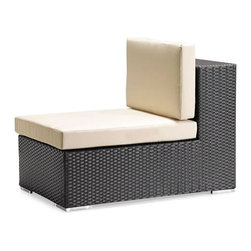 ZUO - Cartagena Middle Chair - Boxy lines offset by light cushions lend a chic ambiance to an outdoor party or a solitary sunset. The weather-resistant Cartagena series features a sectional, loveseat, armchair and coffee table. Sold separately.