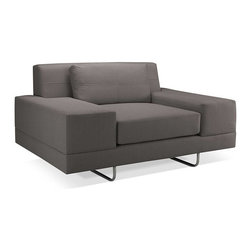 Inova Team -Hamlin Modern Chair - The oversized Hamlin Chair features a medium density cushion which allows you to sit down into this comfortable and modern shape.