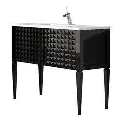 """Macral Diamond single bathroom vanity 40"""". Black. - Macral Diamond bathroom vanity 40""""."""