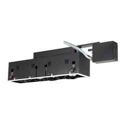 Jesco Lighting - Jesco MGRP20-4WB 4-Light Double Gimbal Linear Recessed Fixture Line Voltage - Jesco MGRP20-4WB 4-Light Double Gimbal Linear Recessed Fixture Line Voltage