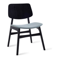 Bryght - 2 x Margo Jade Fabric Black Dining Chair - A throwback to the 60s, the Margo dining chair brings character to a space with its sleek retro lines. Choose from a wide variety of upholstery options.