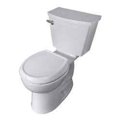"American Standard - American Standard 2587.101.020 Studio Cadet 3 Flowise Round Front Toilet, White - American Standard 2587.101.020 Studio Cadet 3 Flowise Round Front Toilet, White. This round-front toilet features a 12"" Rough-in, an EverClean surface, a fully glazed 2-1/8"" trapway, an oversized 3"" flush valve, a Speed Connect tank-to-bowl coupling system, a sanitary bar with 4 point tank stabilization, and 2 color-matched bolt caps."