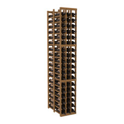 Wine Racks America - 3 Column Double Deep Cellar in Redwood, Oak + Satin Finish - High capacity double deep wine racks are attractive, functional and efficient. Turn your unused space into wine storage with just one wine rack. Keep 9 cases of wine in only three columns. This wooden wine rack kit is perfect for creating maximum storage capacity from deep but narrow areas like pantries.